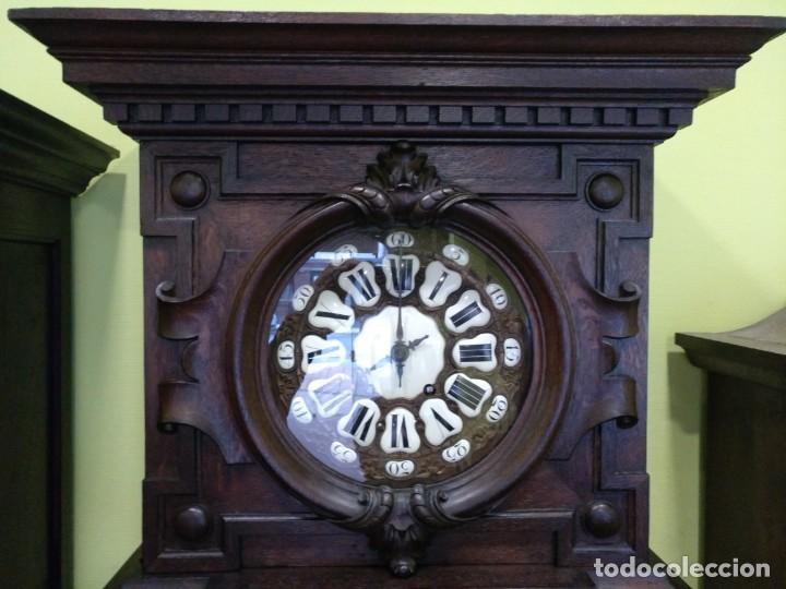 Relojes de pie: ANTIGUO RELOJ DE PIE LOUIS XV DEL SIGLO XIX EN MADERA DE ROBLE FUNCIONANDO. - Foto 3 - 154860482