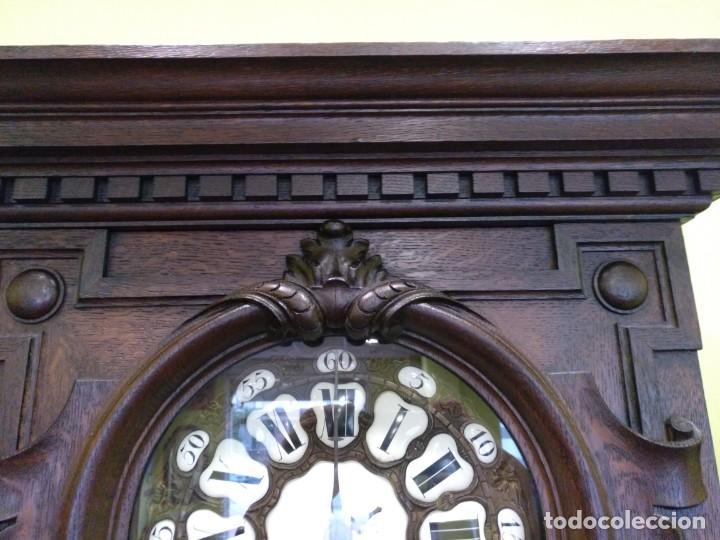 Relojes de pie: ANTIGUO RELOJ DE PIE LOUIS XV DEL SIGLO XIX EN MADERA DE ROBLE FUNCIONANDO. - Foto 4 - 154860482