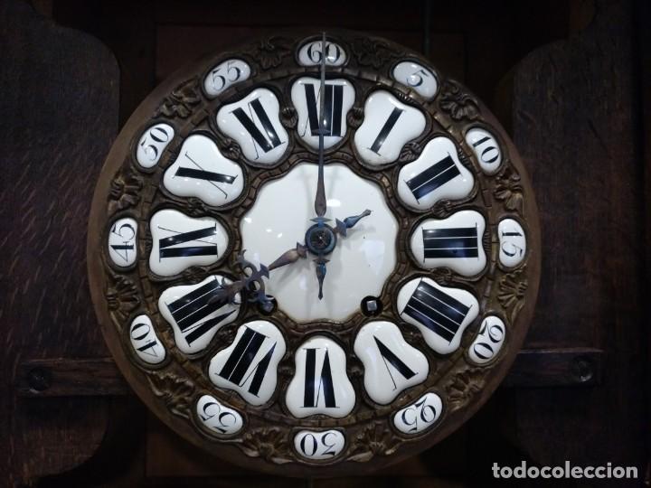 Relojes de pie: ANTIGUO RELOJ DE PIE LOUIS XV DEL SIGLO XIX EN MADERA DE ROBLE FUNCIONANDO. - Foto 5 - 154860482