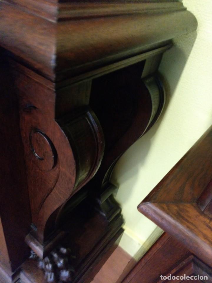Relojes de pie: ANTIGUO RELOJ DE PIE LOUIS XV DEL SIGLO XIX EN MADERA DE ROBLE FUNCIONANDO. - Foto 10 - 154860482