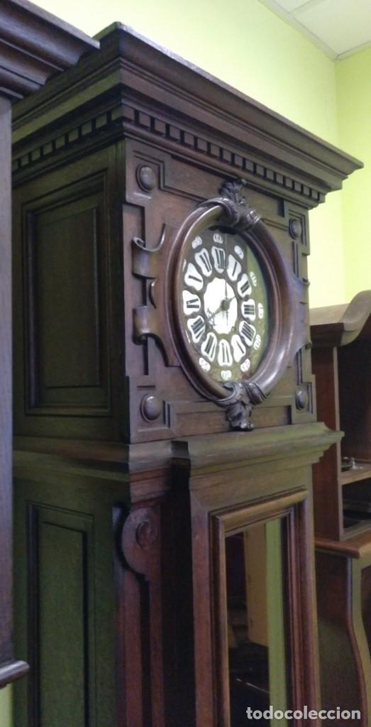 Relojes de pie: ANTIGUO RELOJ DE PIE LOUIS XV DEL SIGLO XIX EN MADERA DE ROBLE FUNCIONANDO. - Foto 17 - 154860482