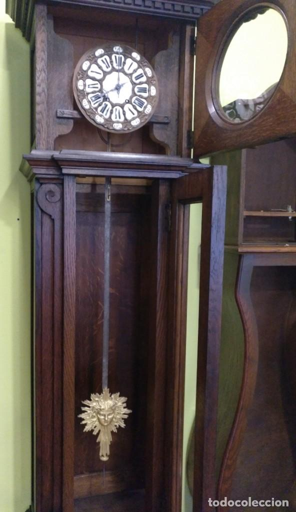 Relojes de pie: ANTIGUO RELOJ DE PIE LOUIS XV DEL SIGLO XIX EN MADERA DE ROBLE FUNCIONANDO. - Foto 18 - 154860482
