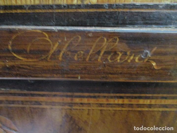 Relojes de pie: Reloj de Pared - Maquina Morez, Hutereau , Movimiento Barco - Caja Firmada Mellard -Funciona -S. XIX - Foto 4 - 159251610