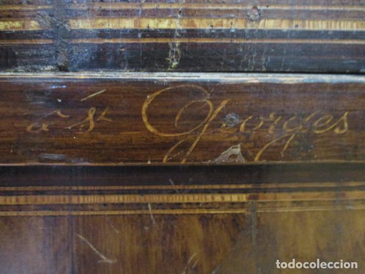 Relojes de pie: Reloj de Pared - Maquina Morez, Hutereau , Movimiento Barco - Caja Firmada Mellard -Funciona -S. XIX - Foto 5 - 159251610