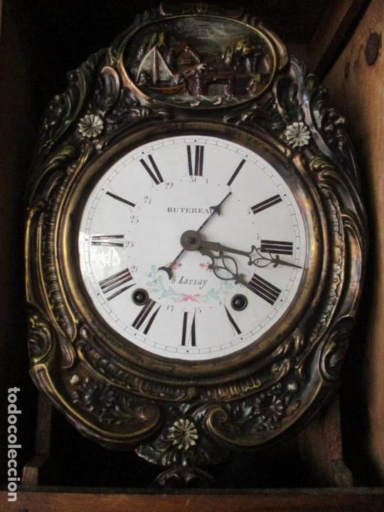 Relojes de pie: Reloj de Pared - Maquina Morez, Hutereau , Movimiento Barco - Caja Firmada Mellard -Funciona -S. XIX - Foto 8 - 159251610