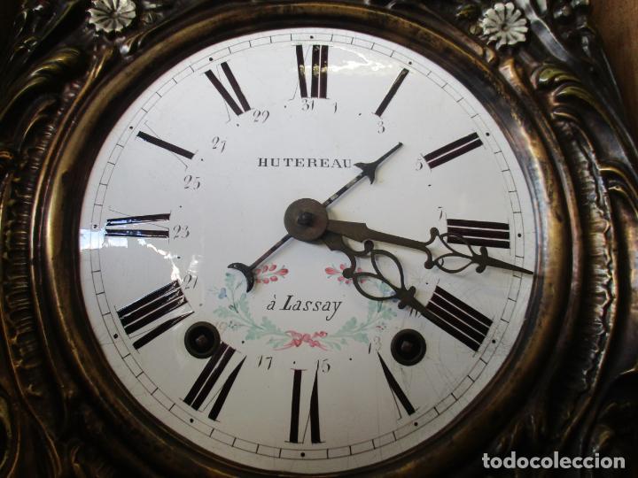 Relojes de pie: Reloj de Pared - Maquina Morez, Hutereau , Movimiento Barco - Caja Firmada Mellard -Funciona -S. XIX - Foto 10 - 159251610