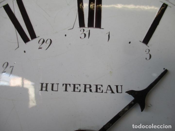 Relojes de pie: Reloj de Pared - Maquina Morez, Hutereau , Movimiento Barco - Caja Firmada Mellard -Funciona -S. XIX - Foto 11 - 159251610