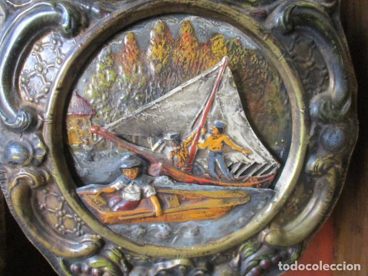 Relojes de pie: Reloj de Pared - Maquina Morez, Hutereau , Movimiento Barco - Caja Firmada Mellard -Funciona -S. XIX - Foto 18 - 159251610