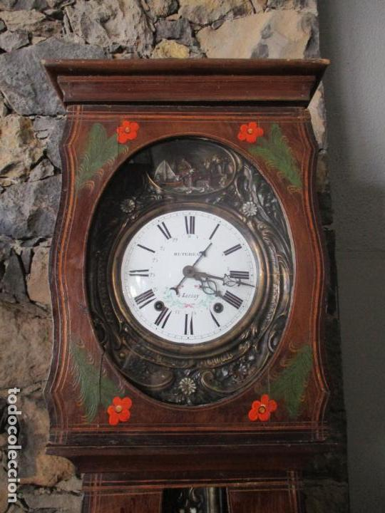 Relojes de pie: Reloj de Pared - Maquina Morez, Hutereau , Movimiento Barco - Caja Firmada Mellard -Funciona -S. XIX - Foto 22 - 159251610
