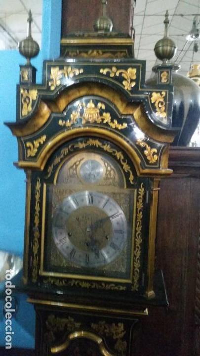 Relojes de pie: Magnifico reloj de pie Tempus Fugit Bell. Lacado. En marcha. Sonería. - Foto 2 - 160854738