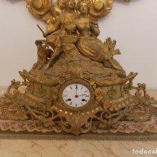 Relojes de pie: ANTIGUO RELOJ BRONCE SIGLO XIX ESCULTURA INGLESA. Lote 163533414