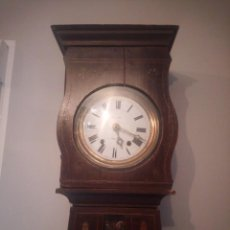 Relojes de pie: EXTRAORDINARIO RELOJ DE PARED BONCHE À TERRE- NOIR.ESFERA DE METAL ESMALTADA,8 DÍAS DE CUERDA.SC XIX. Lote 165257806