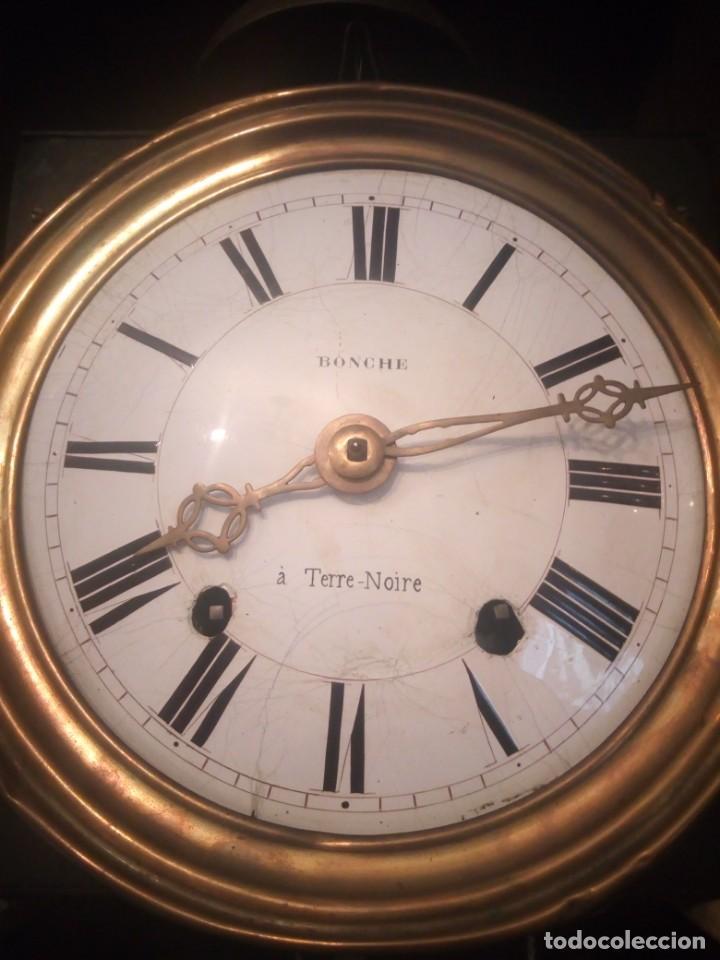 Relojes de pie: reloj moretz de pared bonche à terre- noir.esfera de metal esmaltada,8 días de cuerda.sc xix - Foto 2 - 165257806
