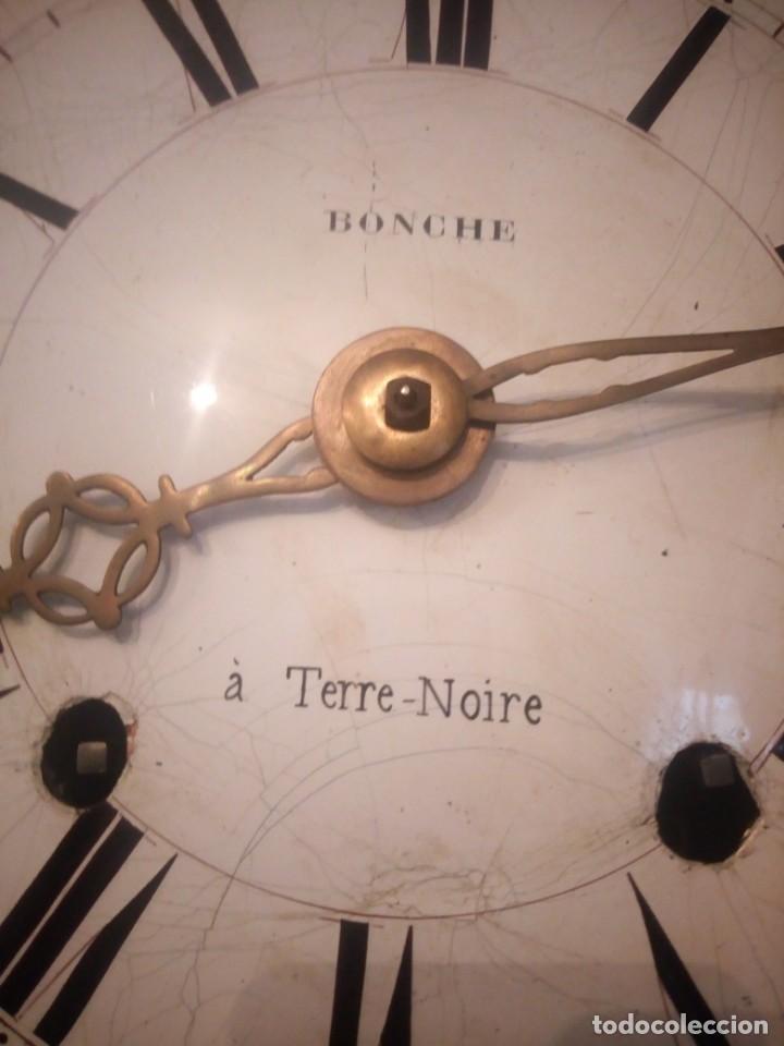 Relojes de pie: reloj moretz de pared bonche à terre- noir.esfera de metal esmaltada,8 días de cuerda.sc xix - Foto 3 - 165257806