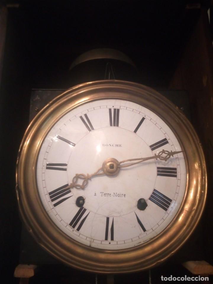 Relojes de pie: reloj moretz de pared bonche à terre- noir.esfera de metal esmaltada,8 días de cuerda.sc xix - Foto 4 - 165257806