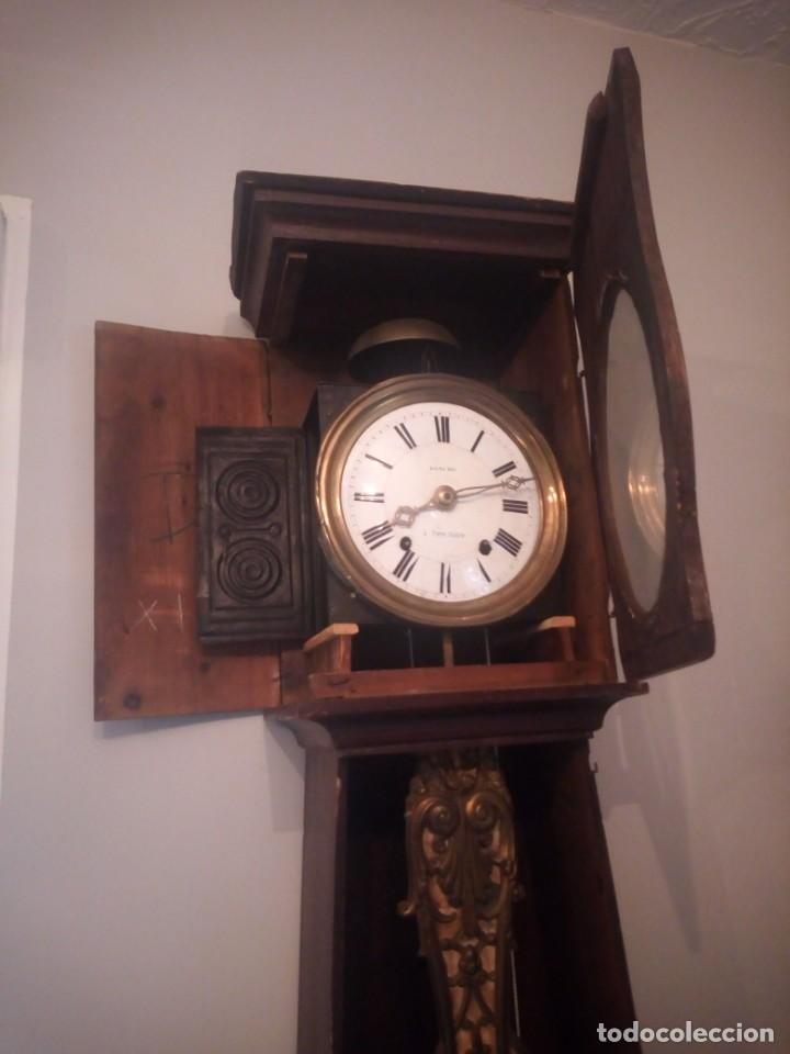 Relojes de pie: reloj moretz de pared bonche à terre- noir.esfera de metal esmaltada,8 días de cuerda.sc xix - Foto 5 - 165257806