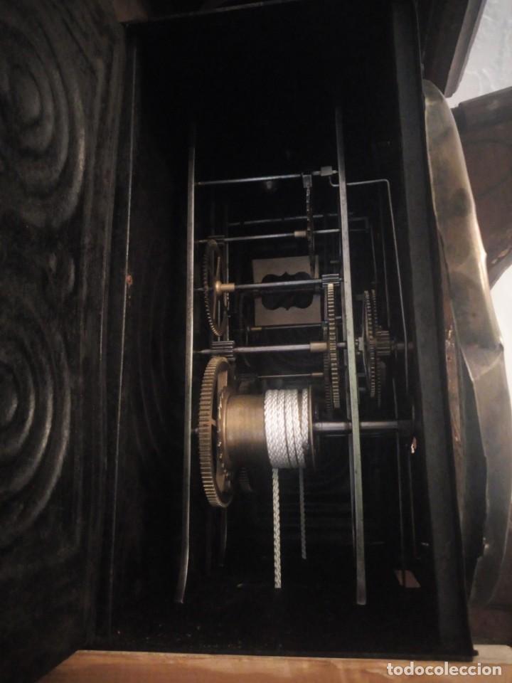 Relojes de pie: reloj moretz de pared bonche à terre- noir.esfera de metal esmaltada,8 días de cuerda.sc xix - Foto 6 - 165257806