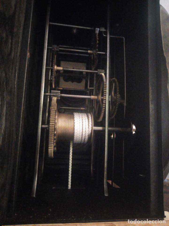 Relojes de pie: reloj moretz de pared bonche à terre- noir.esfera de metal esmaltada,8 días de cuerda.sc xix - Foto 7 - 165257806