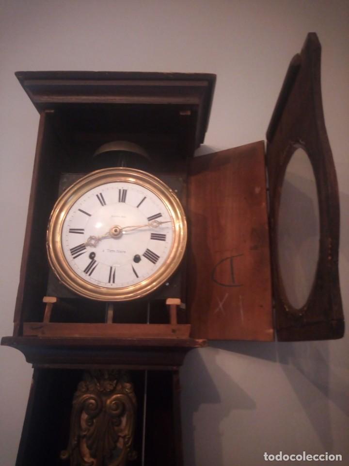 Relojes de pie: reloj moretz de pared bonche à terre- noir.esfera de metal esmaltada,8 días de cuerda.sc xix - Foto 8 - 165257806
