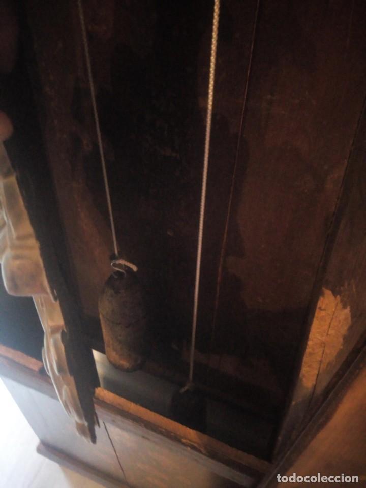 Relojes de pie: reloj moretz de pared bonche à terre- noir.esfera de metal esmaltada,8 días de cuerda.sc xix - Foto 11 - 165257806