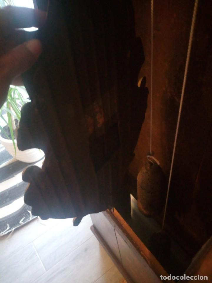 Relojes de pie: reloj moretz de pared bonche à terre- noir.esfera de metal esmaltada,8 días de cuerda.sc xix - Foto 12 - 165257806