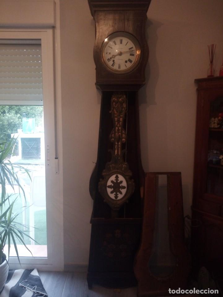 Relojes de pie: reloj moretz de pared bonche à terre- noir.esfera de metal esmaltada,8 días de cuerda.sc xix - Foto 17 - 165257806