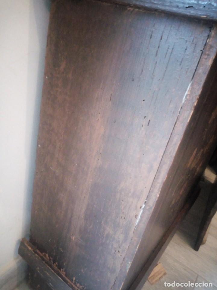Relojes de pie: reloj moretz de pared bonche à terre- noir.esfera de metal esmaltada,8 días de cuerda.sc xix - Foto 18 - 165257806