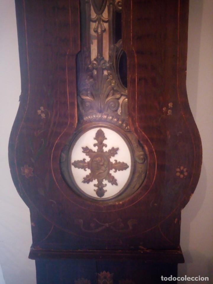 Relojes de pie: reloj moretz de pared bonche à terre- noir.esfera de metal esmaltada,8 días de cuerda.sc xix - Foto 21 - 165257806