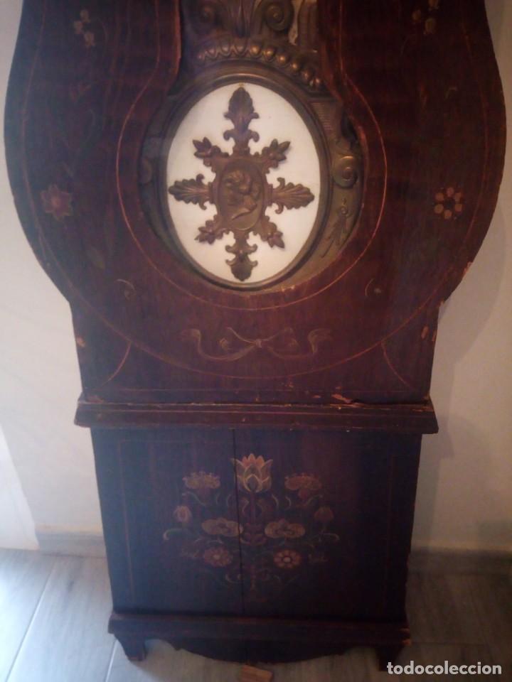 Relojes de pie: reloj moretz de pared bonche à terre- noir.esfera de metal esmaltada,8 días de cuerda.sc xix - Foto 22 - 165257806