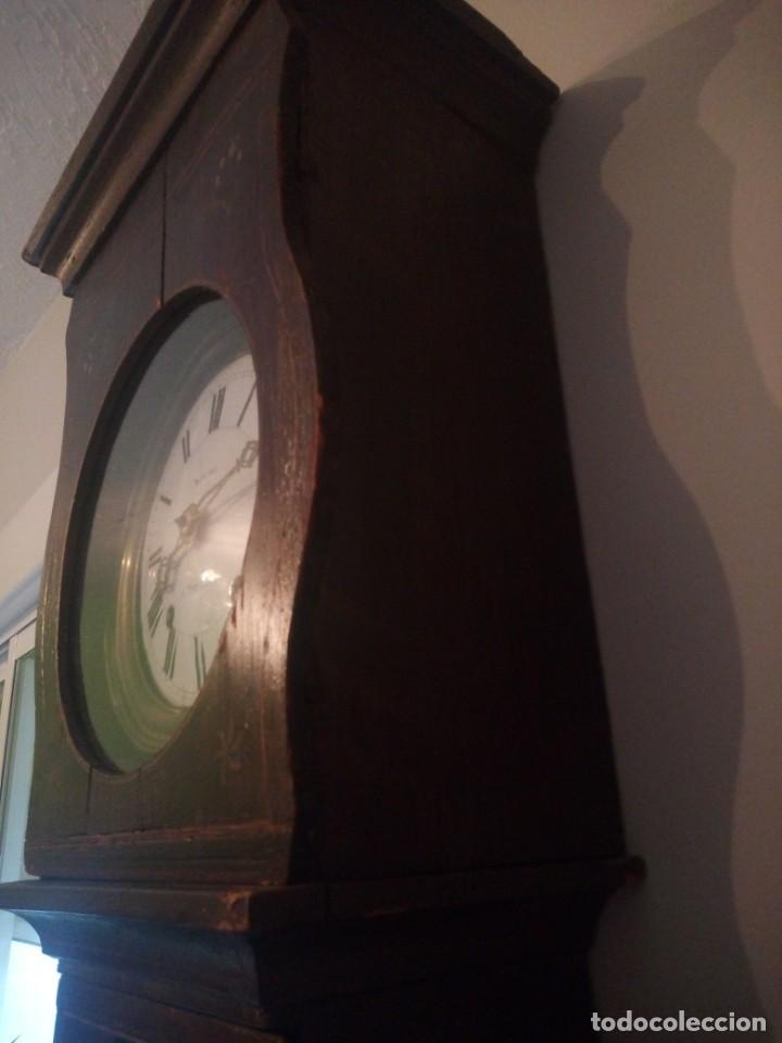 Relojes de pie: reloj moretz de pared bonche à terre- noir.esfera de metal esmaltada,8 días de cuerda.sc xix - Foto 23 - 165257806