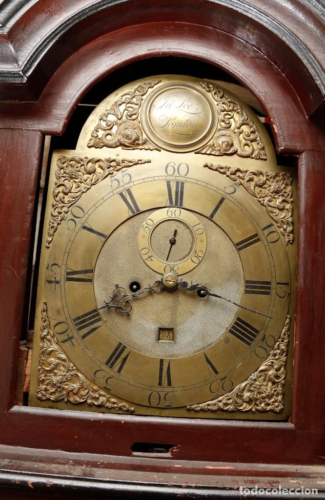 MAGNÍFICO RELOJ TIPO INGLÉS CON CAJA ORIENTAL, SIGLO XIX. 256 CM ALTURA TOTAL, VER FOTOS. (Relojes - Pie Carga Manual)