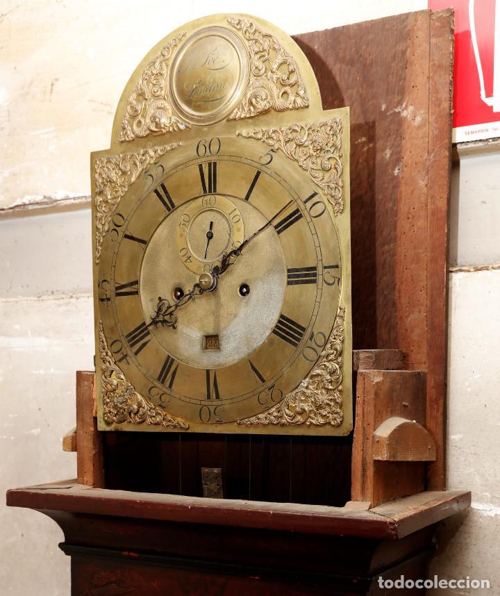 Relojes de pie: MAGNÍFICO RELOJ TIPO INGLÉS CON CAJA ORIENTAL, SIGLO XIX. 256 CM ALTURA TOTAL, VER FOTOS. - Foto 3 - 165969810