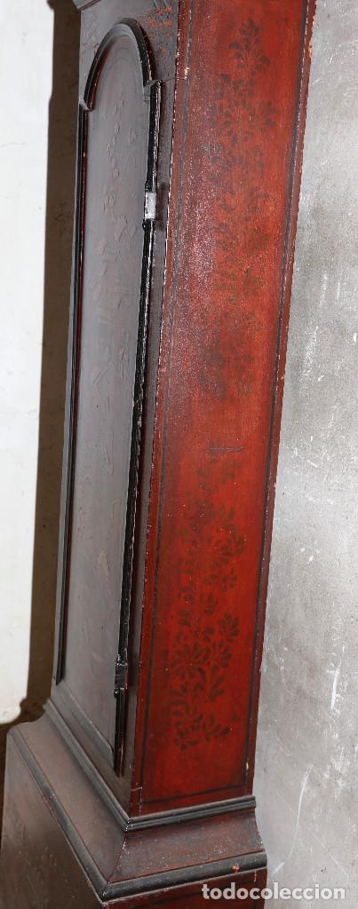 Relojes de pie: MAGNÍFICO RELOJ TIPO INGLÉS CON CAJA ORIENTAL, SIGLO XIX. 256 CM ALTURA TOTAL, VER FOTOS. - Foto 6 - 165969810