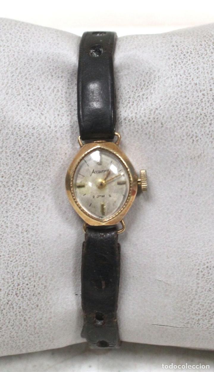 Relojes de pie: vintage Reloj oro macizo amarillo pulsera mecánico damas vintage ACCURIST . - Foto 2 - 169670492