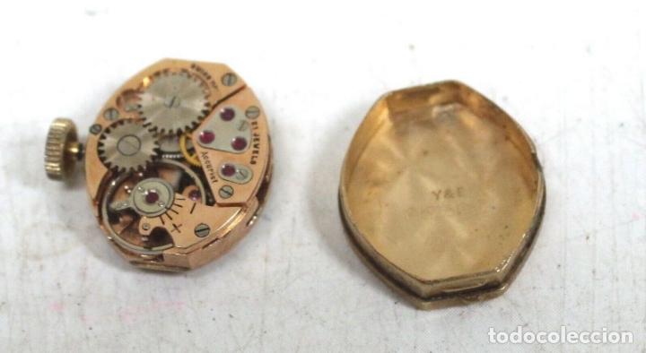 Relojes de pie: vintage Reloj oro macizo amarillo pulsera mecánico damas vintage ACCURIST . - Foto 4 - 169670492