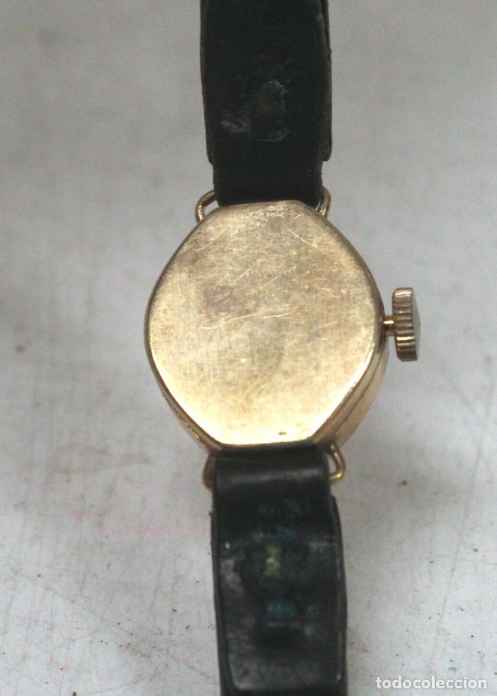 Relojes de pie: vintage Reloj oro macizo amarillo pulsera mecánico damas vintage ACCURIST . - Foto 5 - 169670492