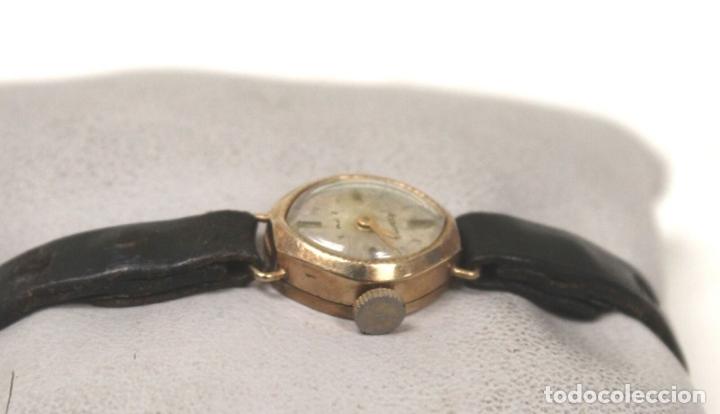 Relojes de pie: vintage Reloj oro macizo amarillo pulsera mecánico damas vintage ACCURIST . - Foto 6 - 169670492