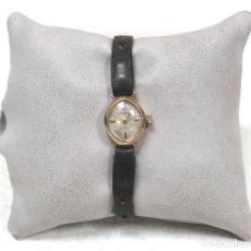 Relojes de pie: VINTAGE RELOJ ORO MACIZO AMARILLO PULSERA MECÁNICO DAMAS VINTAGE ACCURIST .. Lote 169670492