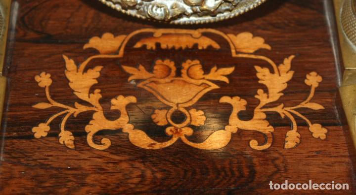 Relojes de pie: RELOJ DE PORTICO - MARQUETERIA BOJ - CAOBA Y BRONCE AL MERCURIO - SG XIX. - Foto 10 - 172090934