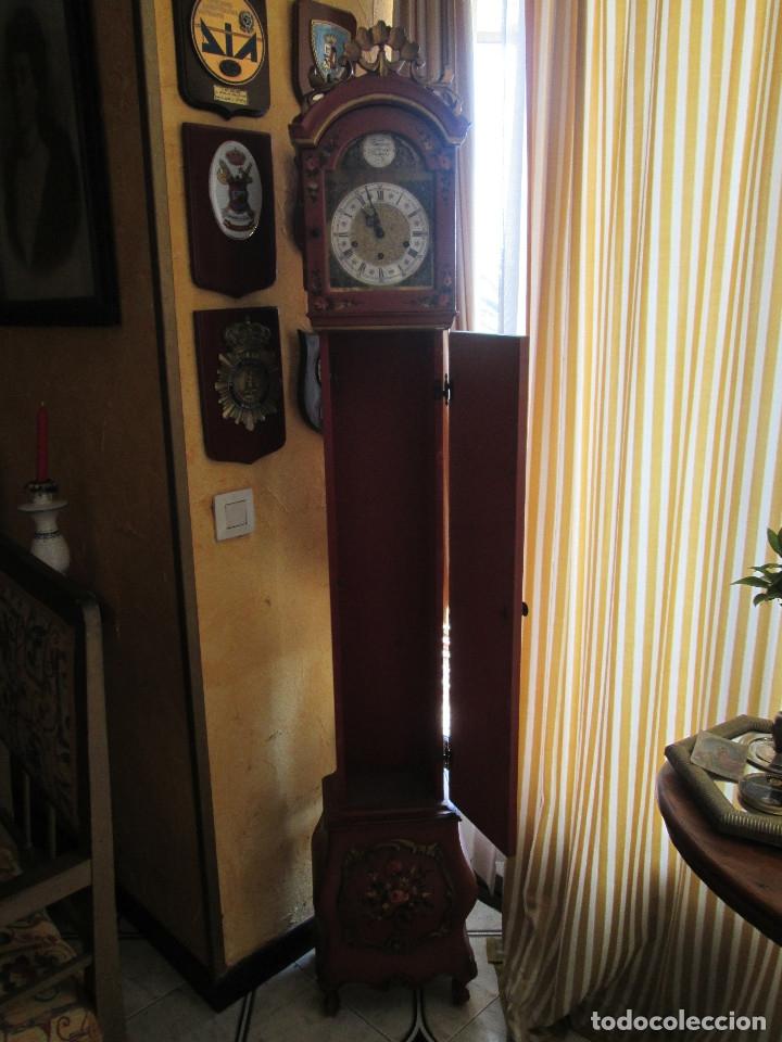 Relojes de pie: RELOJ DE PIE CARGA MANUAL - TEMPUS FUGITE - CAJA MADERA - TIENE LA LLAVE - 183X21X15 - Foto 4 - 172242872