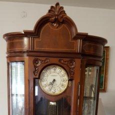 Relojes de pie: RELOJ PÉNDULO,PIE,CARRILLON.MUEBLE MADERA TALLADA NOGAL TAMAÑO 2 X 0,80 CTMS.VER FOTOS Y DETALLES.. Lote 172430993