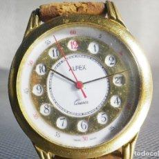 Relojes de pie: INUSUAL Y PRECIOSO ALFEX SUIZO AÑOS 1980 MAQUINA HARLEY BUEN ESTADO LOTE WATCHES. Lote 173532505