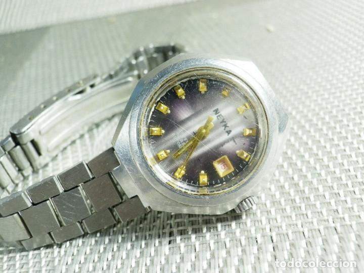 Relojes de pie: GRAN RELOJ AUTOMATICO DE DAMA AÑOS 60 ALTISIMA CALIDAD ACERO INOX LOTE WATCHES - Foto 4 - 173605953