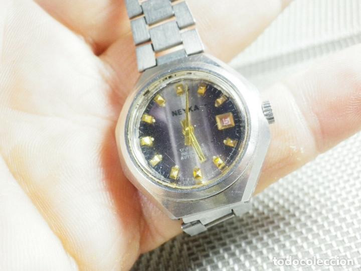 Relojes de pie: GRAN RELOJ AUTOMATICO DE DAMA AÑOS 60 ALTISIMA CALIDAD ACERO INOX LOTE WATCHES - Foto 6 - 173605953