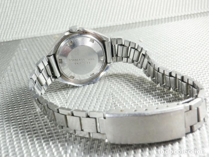 Relojes de pie: GRAN RELOJ AUTOMATICO DE DAMA AÑOS 60 ALTISIMA CALIDAD ACERO INOX LOTE WATCHES - Foto 7 - 173605953