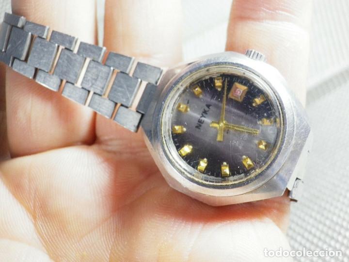Relojes de pie: GRAN RELOJ AUTOMATICO DE DAMA AÑOS 60 ALTISIMA CALIDAD ACERO INOX LOTE WATCHES - Foto 8 - 173605953
