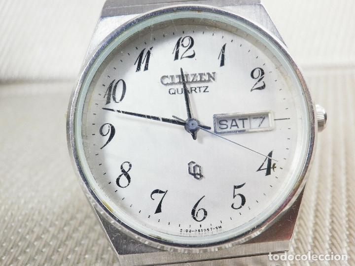 ELEGANTE CITIZEN DE CABALLERO FINALES AÑOS 80 ACERO INOX FUNCIONA LOTE WATCHES (Relojes - Pie Carga Manual)