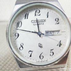 Relojes de pie: ELEGANTE CITIZEN DE CABALLERO FINALES AÑOS 80 ACERO INOX FUNCIONA LOTE WATCHES. Lote 173632267