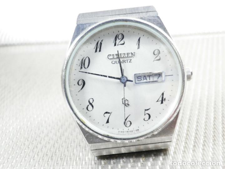 Relojes de pie: ELEGANTE CITIZEN DE CABALLERO FINALES AÑOS 80 ACERO INOX FUNCIONA LOTE WATCHES - Foto 3 - 173632267