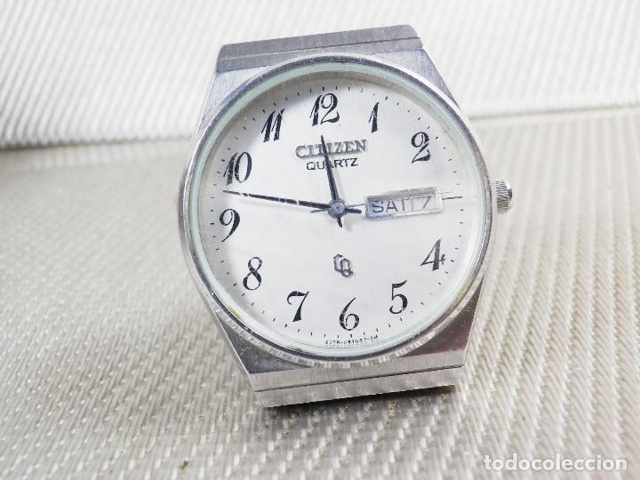 Relojes de pie: ELEGANTE CITIZEN DE CABALLERO FINALES AÑOS 80 ACERO INOX FUNCIONA LOTE WATCHES - Foto 4 - 173632267